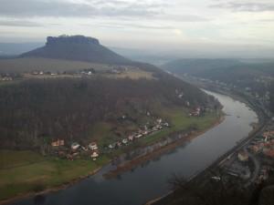 Blick von der Festung Königstein ins Elbtal