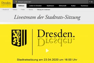 Screenshot www.dresden.de