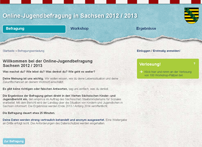Screenshot Onlinebefragung